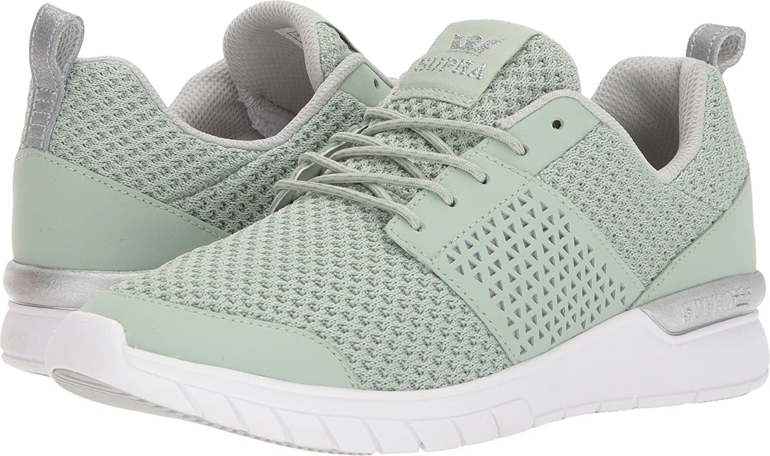 Supra Women's Scissor '18 Shoes B074KKTBMW 7.5 M US|Smoke Green/Silver-white