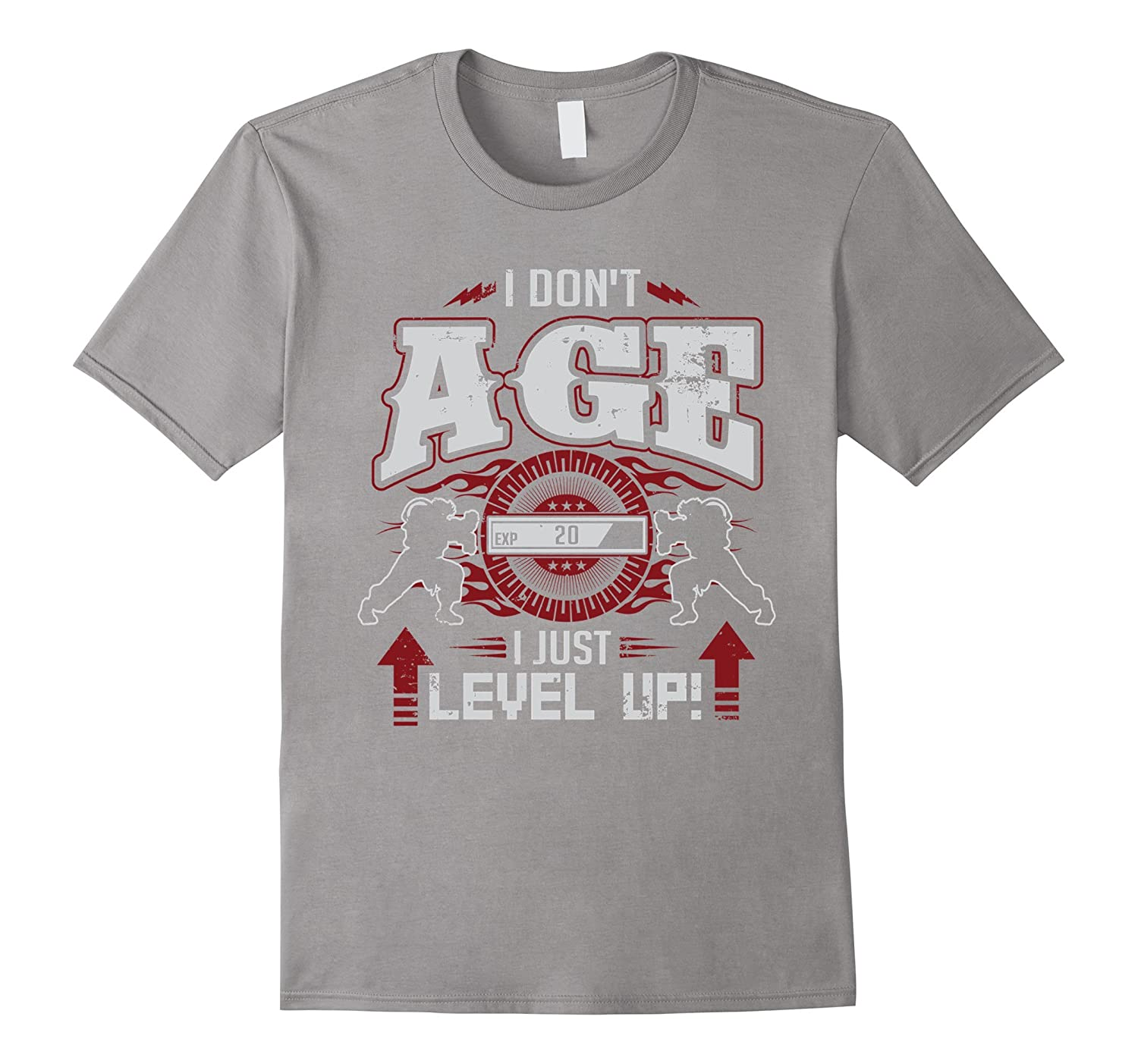 Level 20 Years Old I Dont Age I Level Up Birthday T-Shirt-Vaci