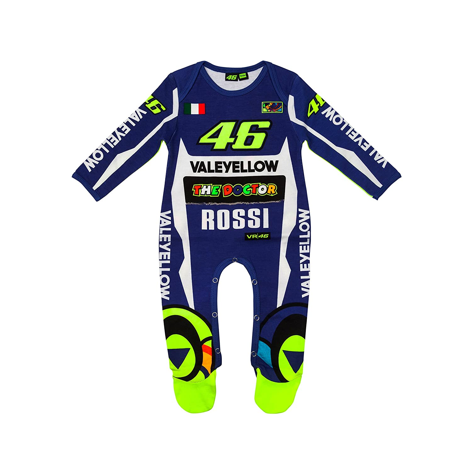 Valentino Rossi VR46 Moto GP Blue Yamaha Baby Grow Overall Suit Official 2018 VR/46