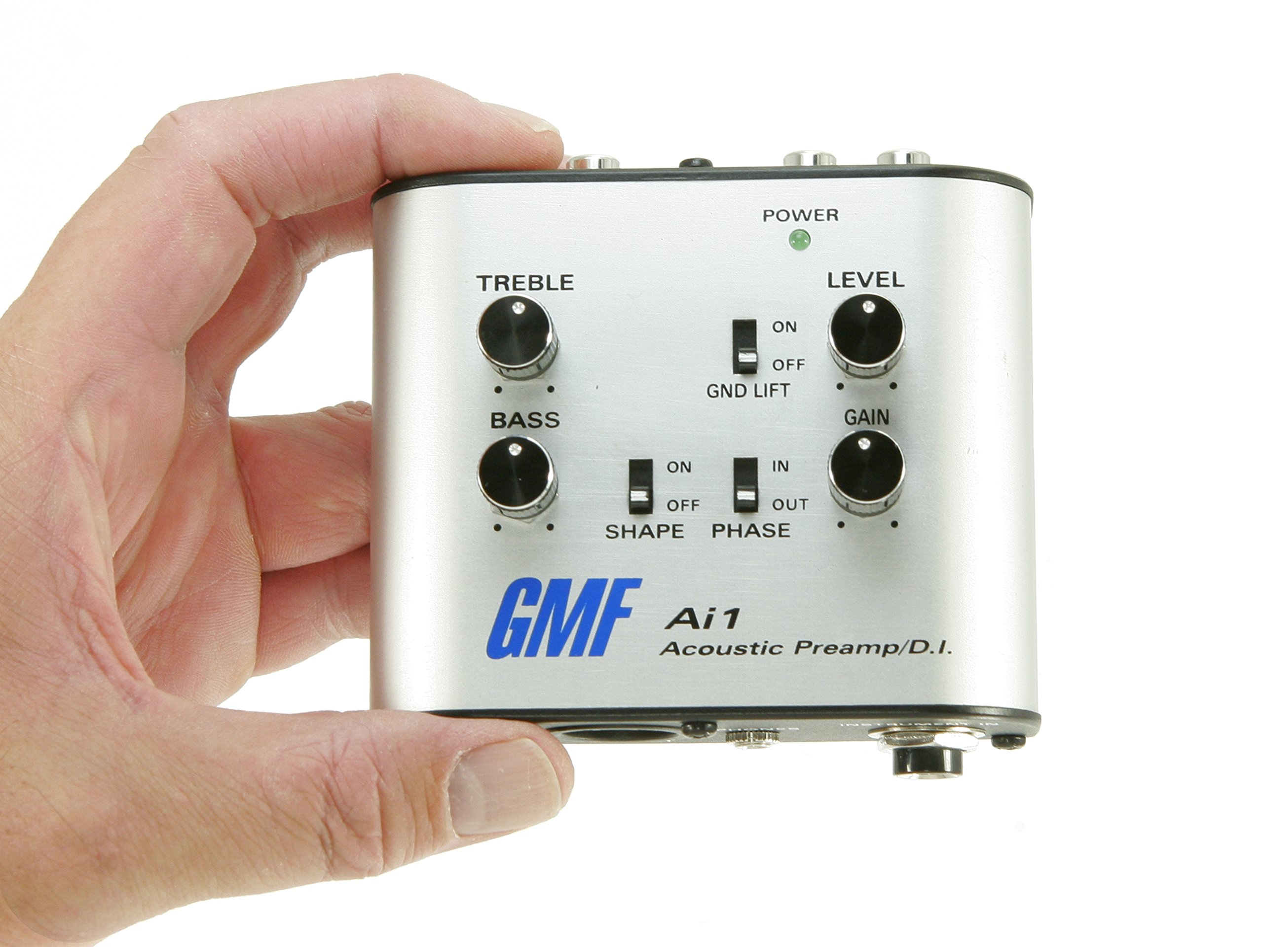 GMF Ai1 Acoustic Preamp and D.I. - Direct Box For Guitar and Other Acoustic Instruments - 3in1 Analog DI Box, Direct To Amp Preamp and EQ, Headphone Amp by GMF
