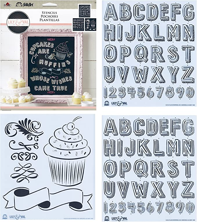 Custom Stencil  Reusable Mylar Sheet Baking Craft Arts Paper Any Text 5 Fonts C