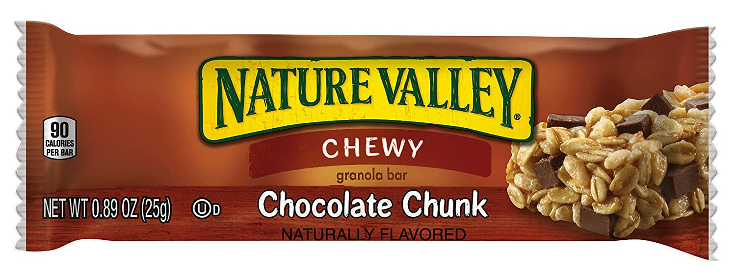 GeneralMills LR/D CHOCOLATE CHIP NATURE VALLEY CHEWY GRANOLA BAR 120 CASE .89 OUNCE, .89-ounces (Pack of120)