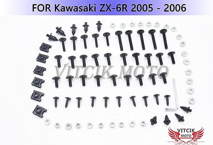 636 Motorrad CNC Aluminium Handschutz Hand-Protektoren Passend f/ür Kawasaki ZX6R