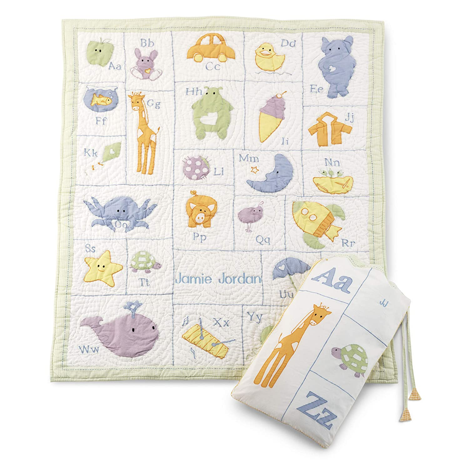 Things Remembered Personalized Alphabet Quilt with Embroidery Included