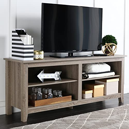 Home Accent Furnishings Millie Modern 58 inch TV Stand in Driftwood