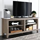 "New 58"" Modern Tv Console Stand – Driftwood Finish"