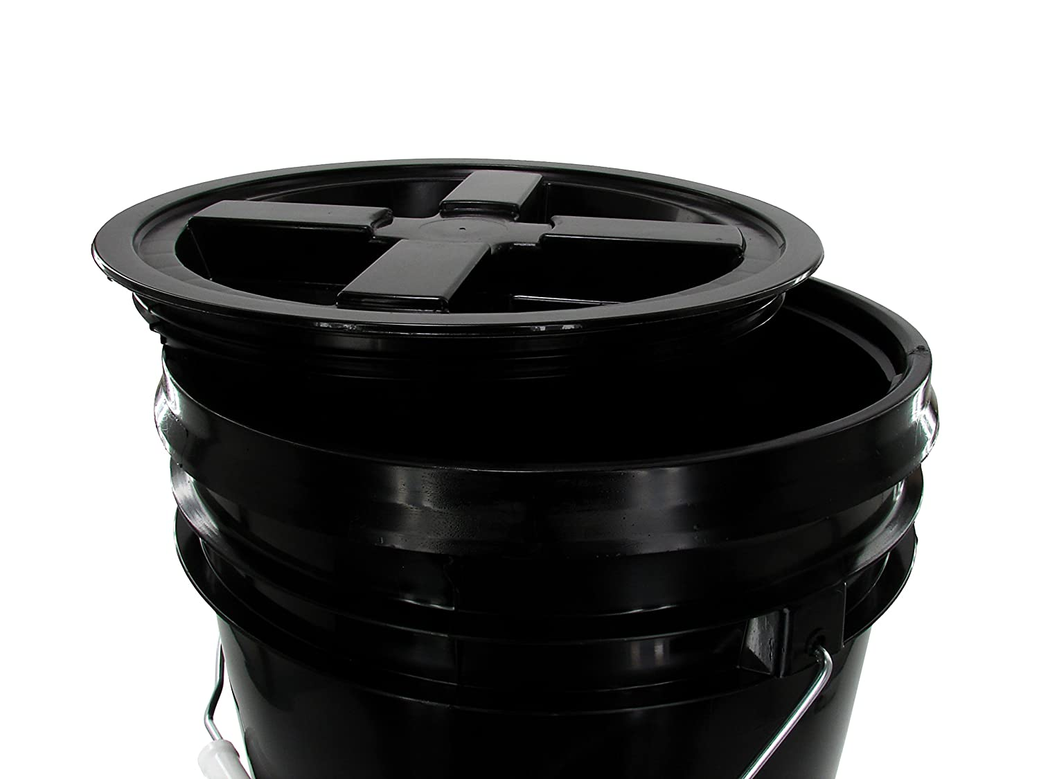 Black GAMMA Black 2 Gallon Bucket with Gasketed Lid , 1