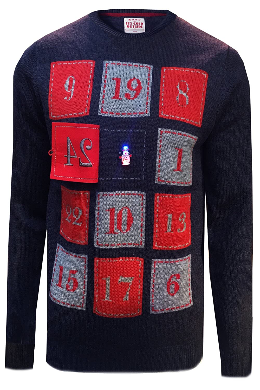 Mens Xmas Christmas Jumper Novelty Knit LED Lights Jumpers by Threadbare Imt159
