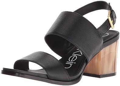 b451da88862a Calvin Klein Women s Rosemary Heeled Sandal Black 10 Medium US