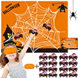 Funnlot Halloween Party Games for Kids Pin The Spider on The Web Game Halloween Party Favors and Games Halloween…