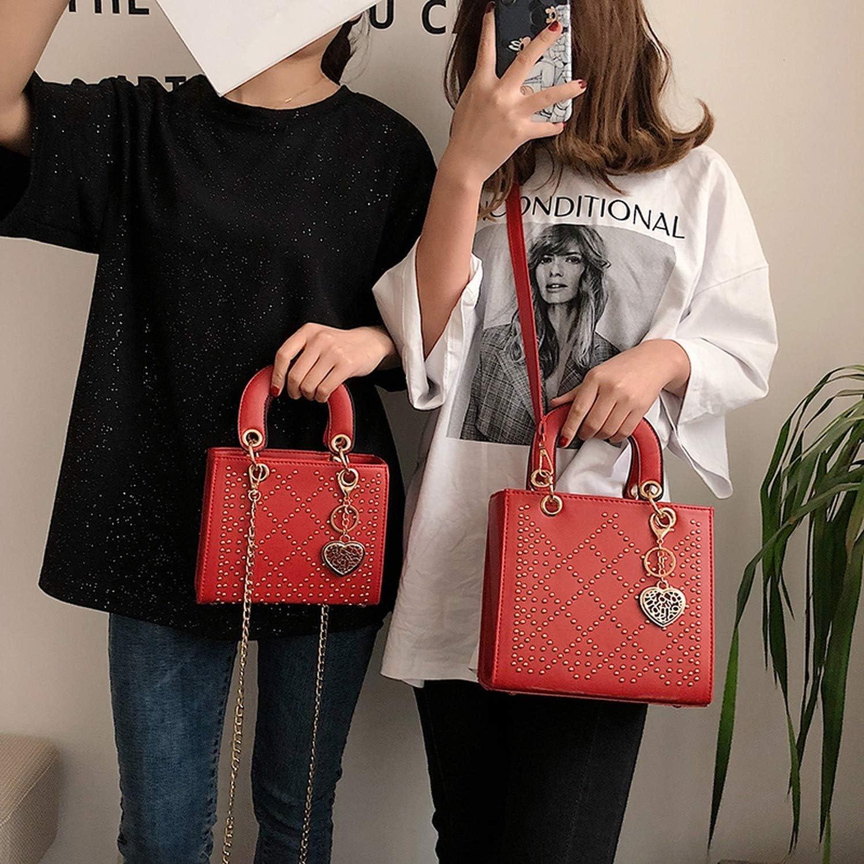 Rivet Women Handbag Bags Luxurious Woman Shoulder Bags Sequined Ladies Crossbody Bag PU Leather Personality Designer Handbags