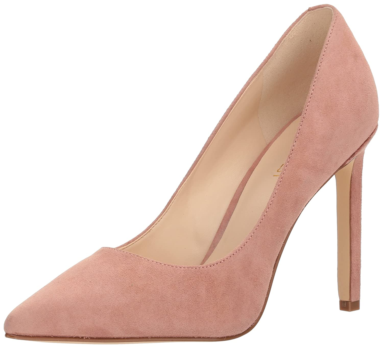 Nine West Women's Tatiana Suede Dress Pump B071W9F45T 6.5 B(M) US|Medium Pink Suede