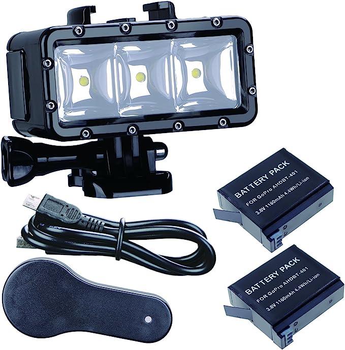 Suptig Unterwater Licht Unterwasserlampe Dimmbare Kamera