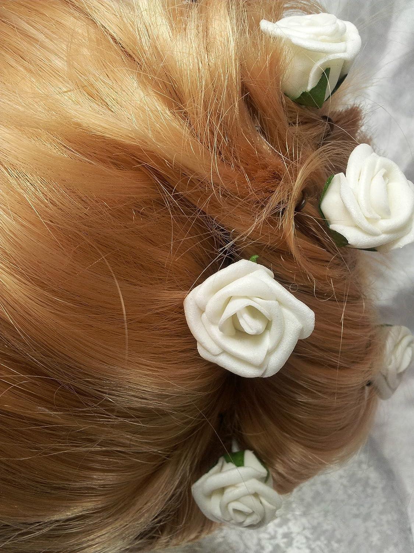 TOOKY 12pcs Hair Flower Clip Pin Bridal Girl Women For Wedding Prom Party dTLvOVm