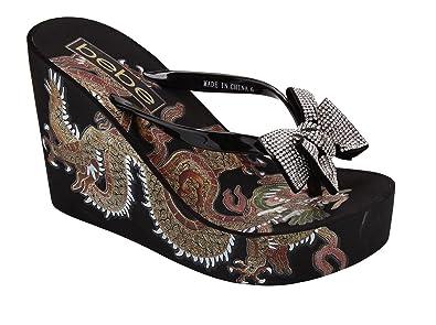 611ca3e0c64 bebe Women s Alaya Flip-Flop Black 10 ...