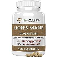 Lions Mane Mushroom Cognition Capsules 120ct/500mg each, Organic Lions Mane Mushroom...