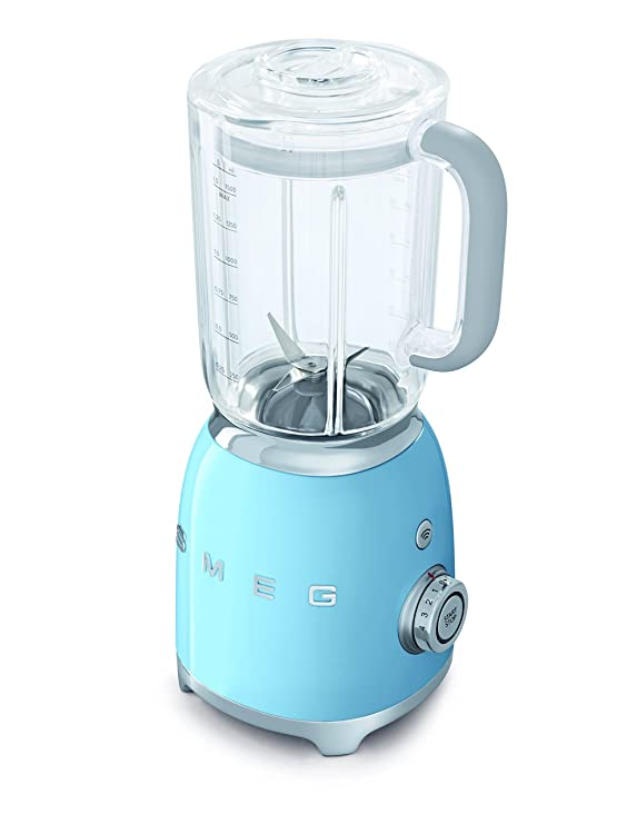 SMEG Batidora BLF01PBEU, 800 W, 0.45 litros, Metal, plástico, 4 Velocidades, azul pastel: Amazon.es: Hogar