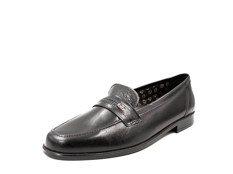 Selquir Zapatos hombre CALIDAD, en piel de cabra color negro - 112-1 Negro