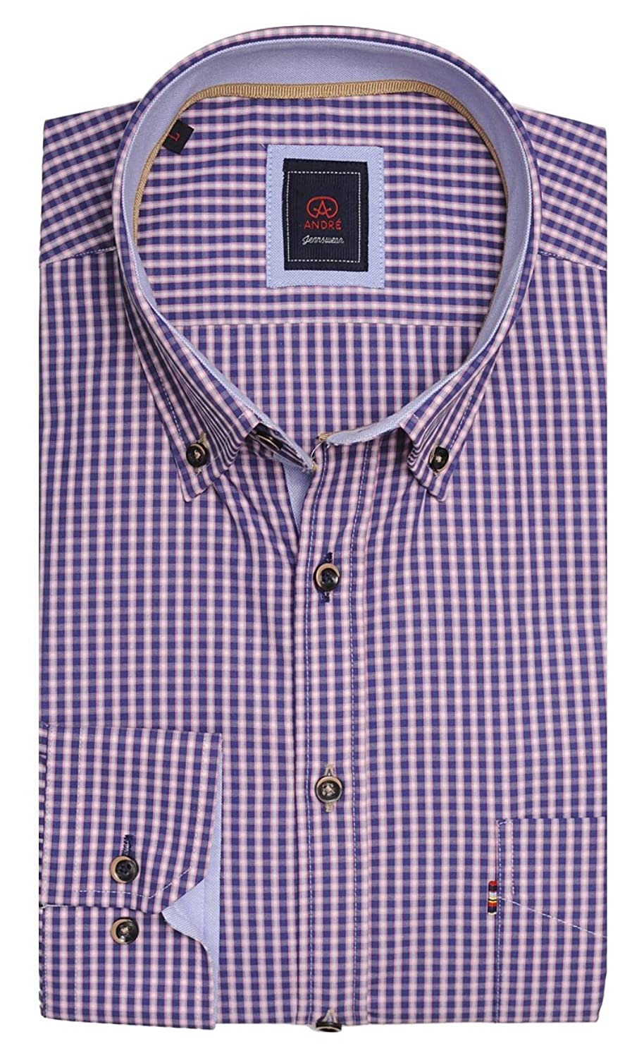Wexford 100% Luxury Cotton Smart Casual Shirt in rose and beautifully designed by Andr茅 Menswear