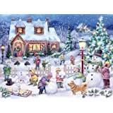 Snowman Celebration Jigsaw Puzzle 550 Piece