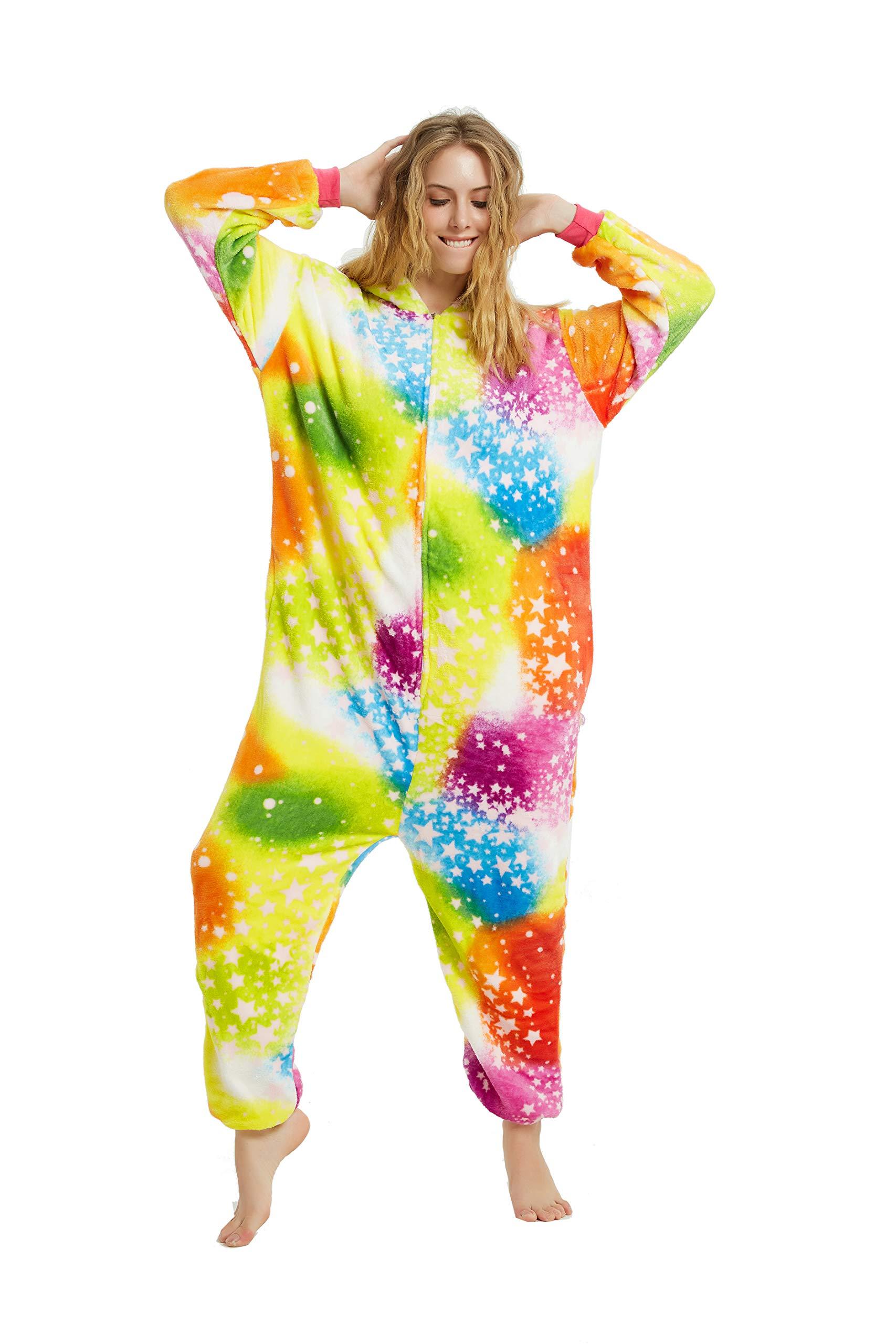 Adult Onesies for Women Men Girls Unicorn Costume Halloween Christmas Animal Pajamas