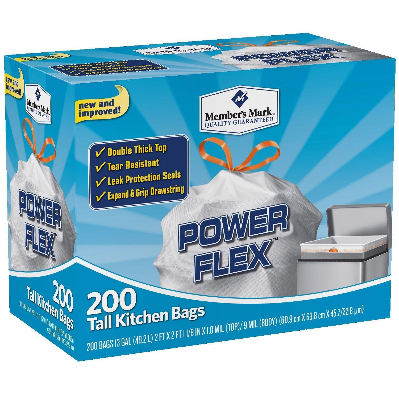 Amazon.com: Member\'s Mark 13 gal Power Flex, Leak Protection, Tall ...