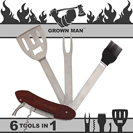 Amazon.com: Grown Man ™ BBQ – Cepillo, Grill Herramienta ...