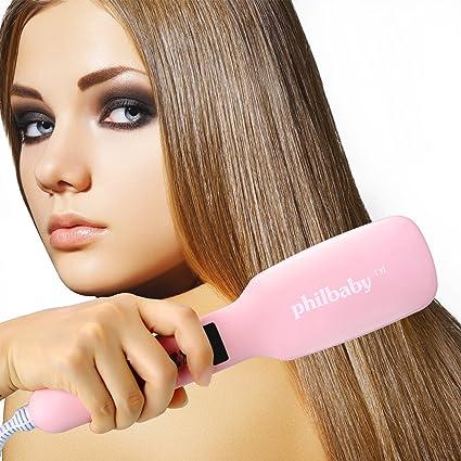 molain plancha de pelo cepillo plancha de pelo con LCD