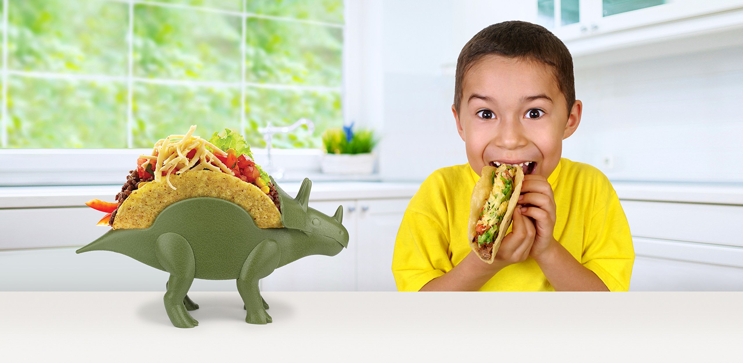 KidsFunwares TriceraTACO Taco Holder - The Ultimate Prehistoric Taco Stand for Jurassic Taco Tuesdays and Dinosaur Parties - Holds 2 Tacos - The Perfect Gift for Kids and Kidults that Love Dinosaurs by KidsFunwares (Image #7)