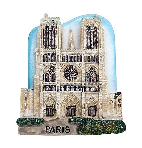 zamonji Souvenir de Notre Dame de Paris 3D Imán De Resina para ...