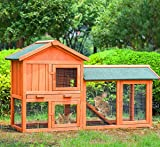 Merax Chicken Coop Rabbit Hutch Wood House Pet Cage