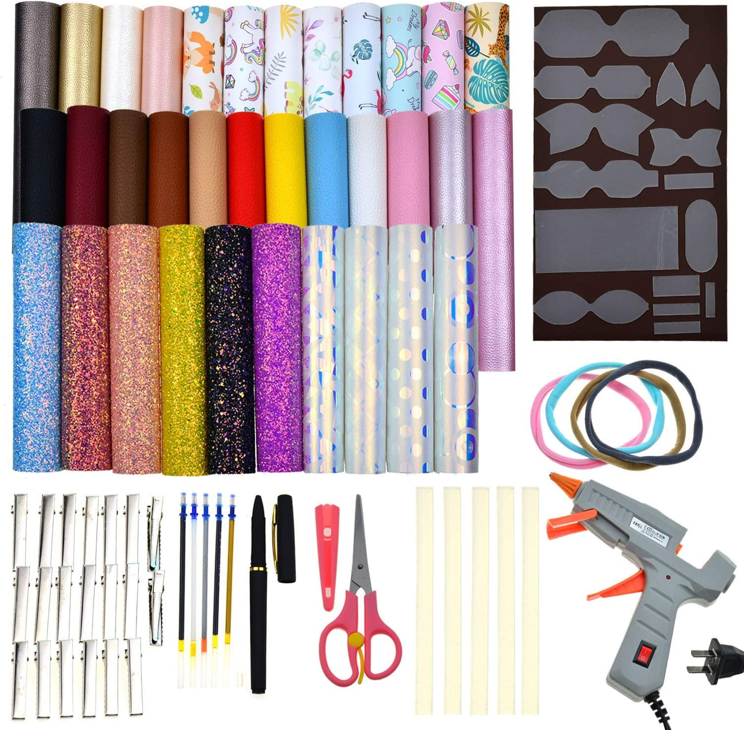 DIY Hair Bows 8x11 Faux Leather Snow White Faux Leather Sheets Earrings DIY Snow White A4 Vinyl Fabric Sheet