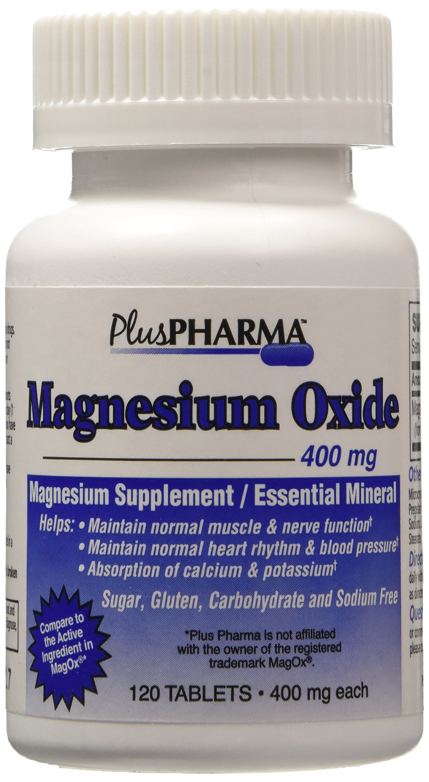 Magnesium Oxide 400mg (Compare to MagOx) 360ct