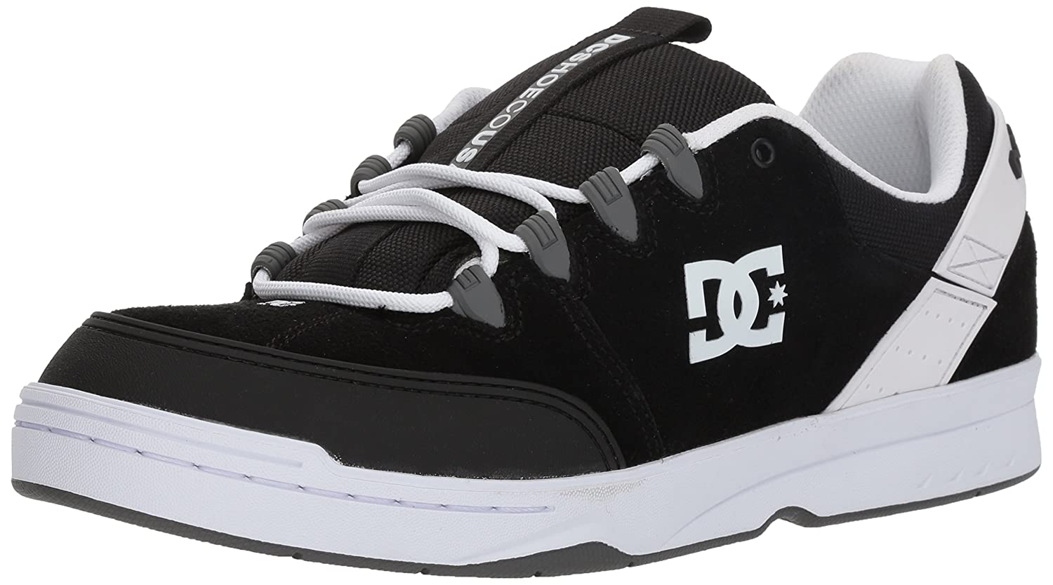 DC Men's Syntax Skateboarding Shoe 10 D D US|Black/Grey