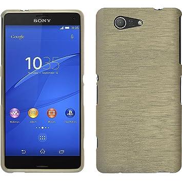 elecdorith TPU Suave Case Brushed Silicona Carcasa para Sony Xperia Z3 Compact (mini) , Sony Xperia Z3 Compact Funda , Dorado