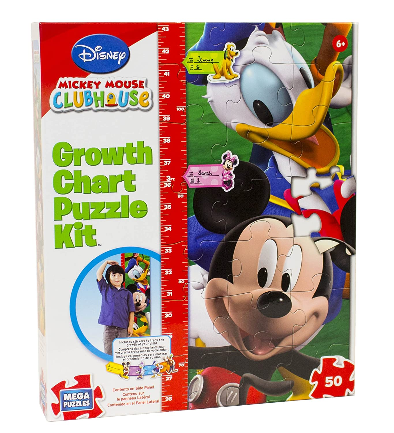 Amazon disney mickey mouse clubhouse growth chart puzzle kit amazon disney mickey mouse clubhouse growth chart puzzle kit toys games nvjuhfo Image collections