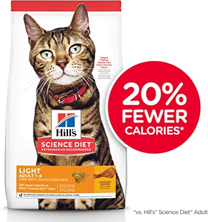 hill science diet healthy weight cat food