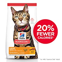 Hill's Science Diet Dry Cat Food, Adult, Light for Weight Management, Chicken Recipe