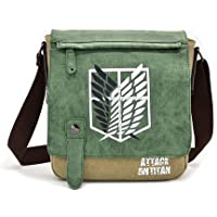 HAMIQI Anime One Piece Shoulder Bag Attack on Titan Clamshell Messenger Bag Student Fashion Cross Body Backpack Naruto…