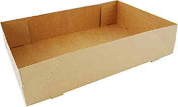 9-9//16 Length x 6-11//16 Width x 3 Height Case of 250 White Southern Champion Tray 1201 Paperboard Automatic Donut Box