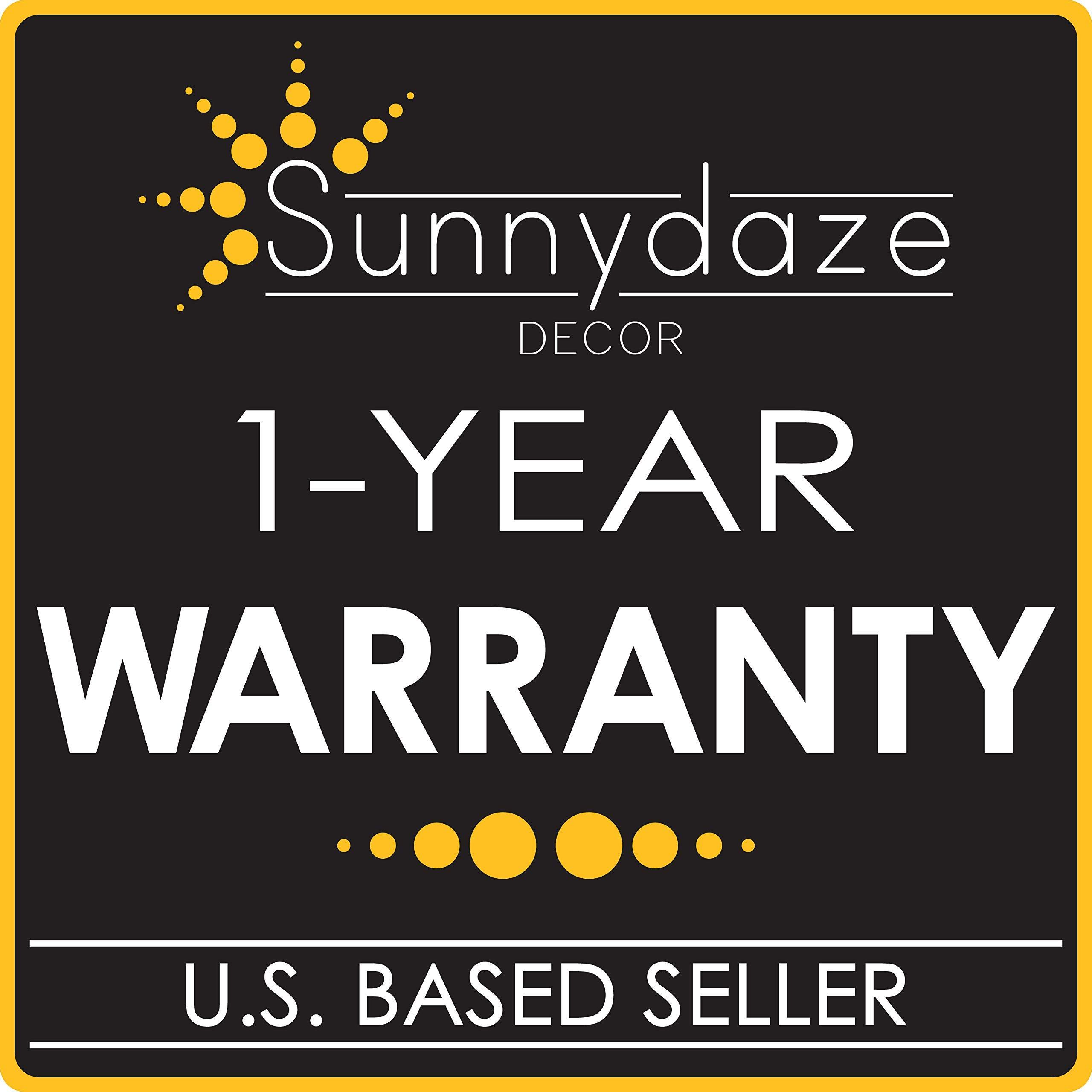 Sunnydaze Outdoor Fire Pit Spark Screen Cover, Round Heavy-Duty Steel Mesh Lid, 30-Inch (Renewed) by Sunnydaze Decor