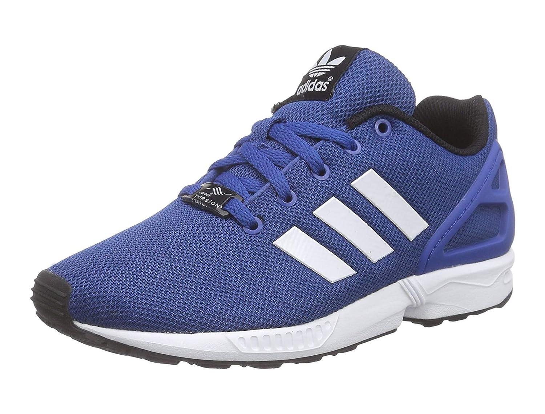 newest 3da7a 0c0dd Adidas Originals ZX Flux GS Running Trainers in Blue & White ...