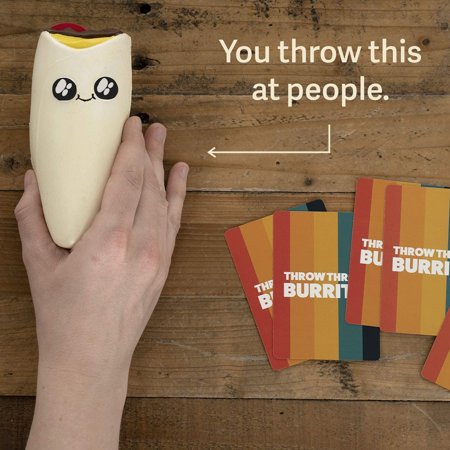 Teens /& Kids A Dodgeball Card Game Throw Throw Burrito by Exploding Kittens Card Games for Adults Family-Friendly Party Games