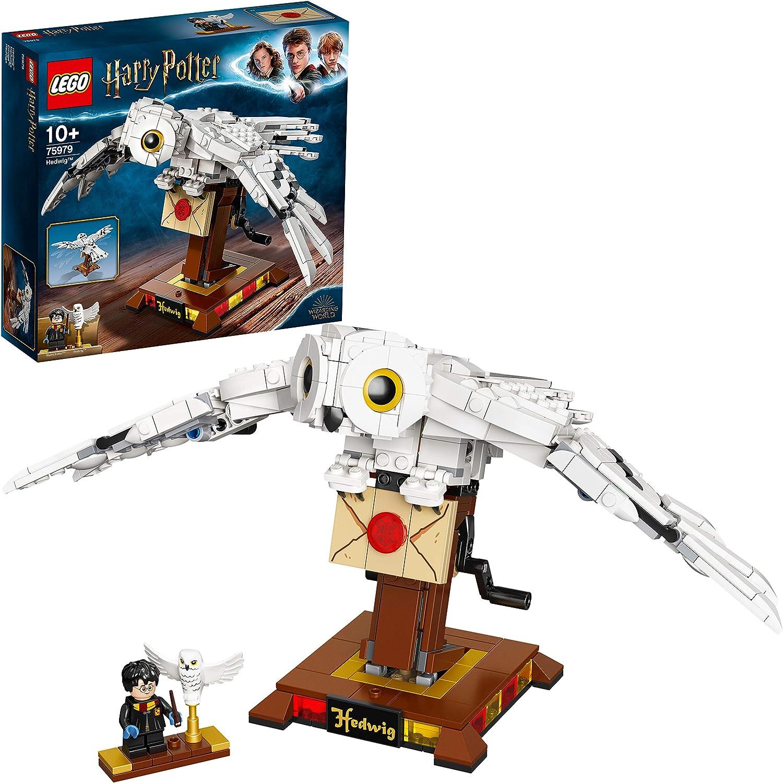 LEGO Harry Potter TM - Hedwig, Maqueta para Montar a Partir de 10 años de la Lechuza de Harry Potter con alas móviles, Set de construcción Novedad 2020 (75979)