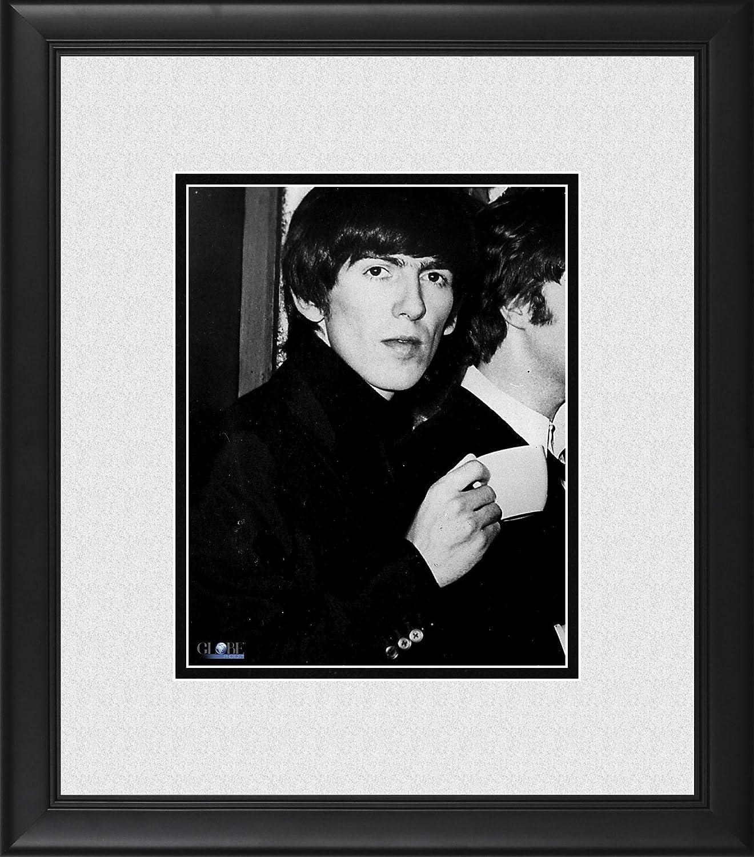 George Harrison The Beatles Framed 8' x 10' Holding Teacup Photograph George Harrison The Beatles Framed 8 x 10 Holding Teacup Photograph HollywoodMemorabilia