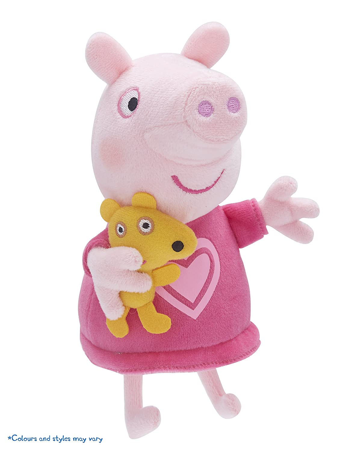 "Nouveau Peppa Pig 7/"" Talking Princess Peppa Soft Plush Toy"