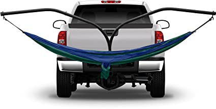 Hammaka Hammock Hitch Stand With 2 Cradle Chairs And Blue/Green Parachute  Hammock (Blue