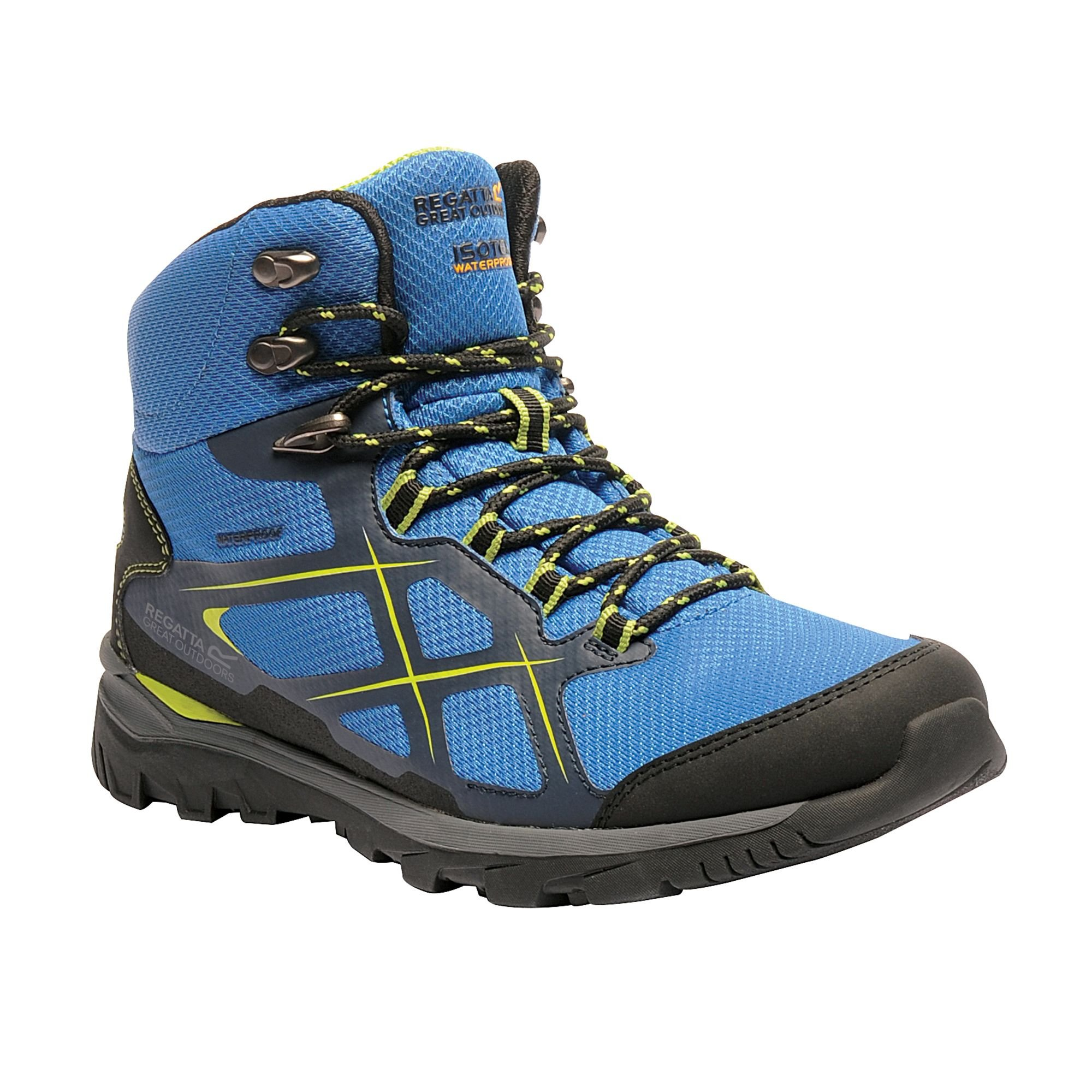 Regatta Great Outdoors Mens Kota Mid Walking Boot (10 US) (Navy Blazer/Lime Green) by Regatta (Image #4)