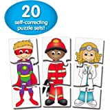 The Learning Journey: Match It! - Who Am I? - 20 Piece Self-Correcting Matching Puzzle Set - Diversity Toys for Toddlers Ages