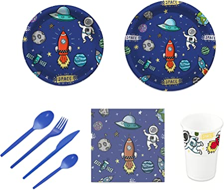 Pack para fiesta infantil o cumpleaños con diseño de planetas ...